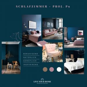 Schlafzimmer blau Farrow Ball hague blue Moodboard